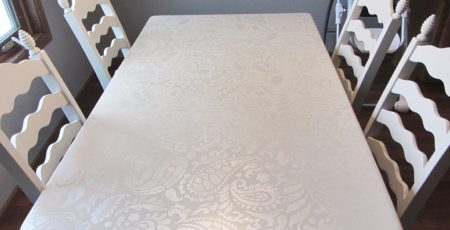 Stenciled Table Makeover 18