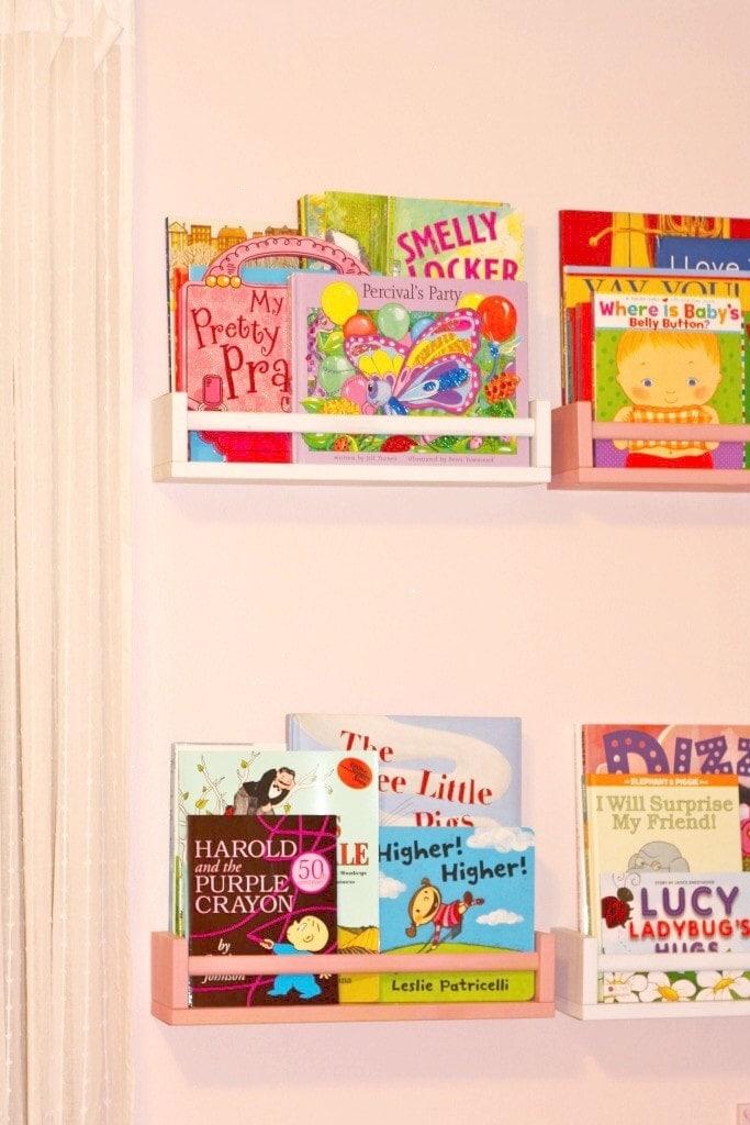 IKEA Spice Racks turned Book Shelves - www.refashionablylate.com