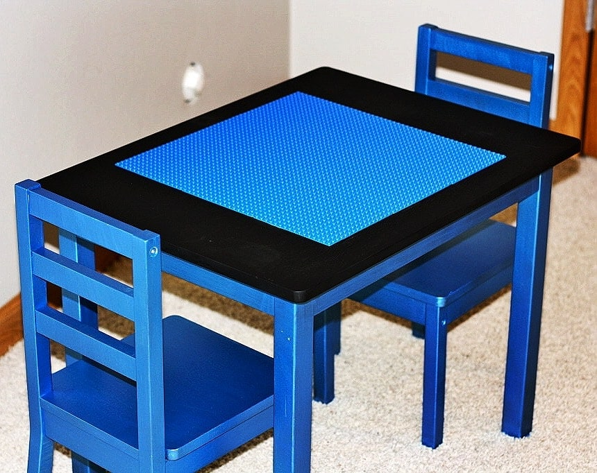 Children's Table turned Lego Table - www.refashionablylate.com