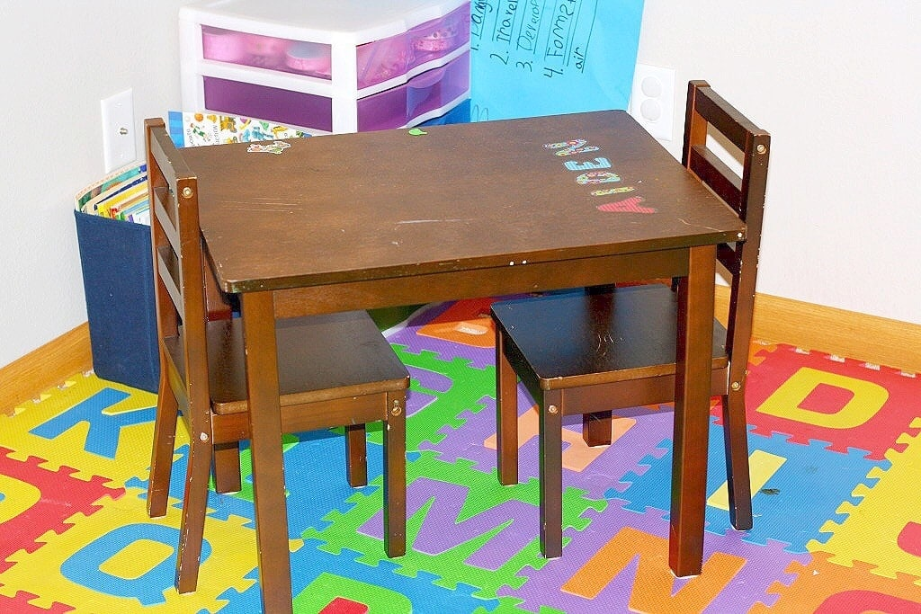 Children's Table turned Lego Table - www.refashionablylate.com