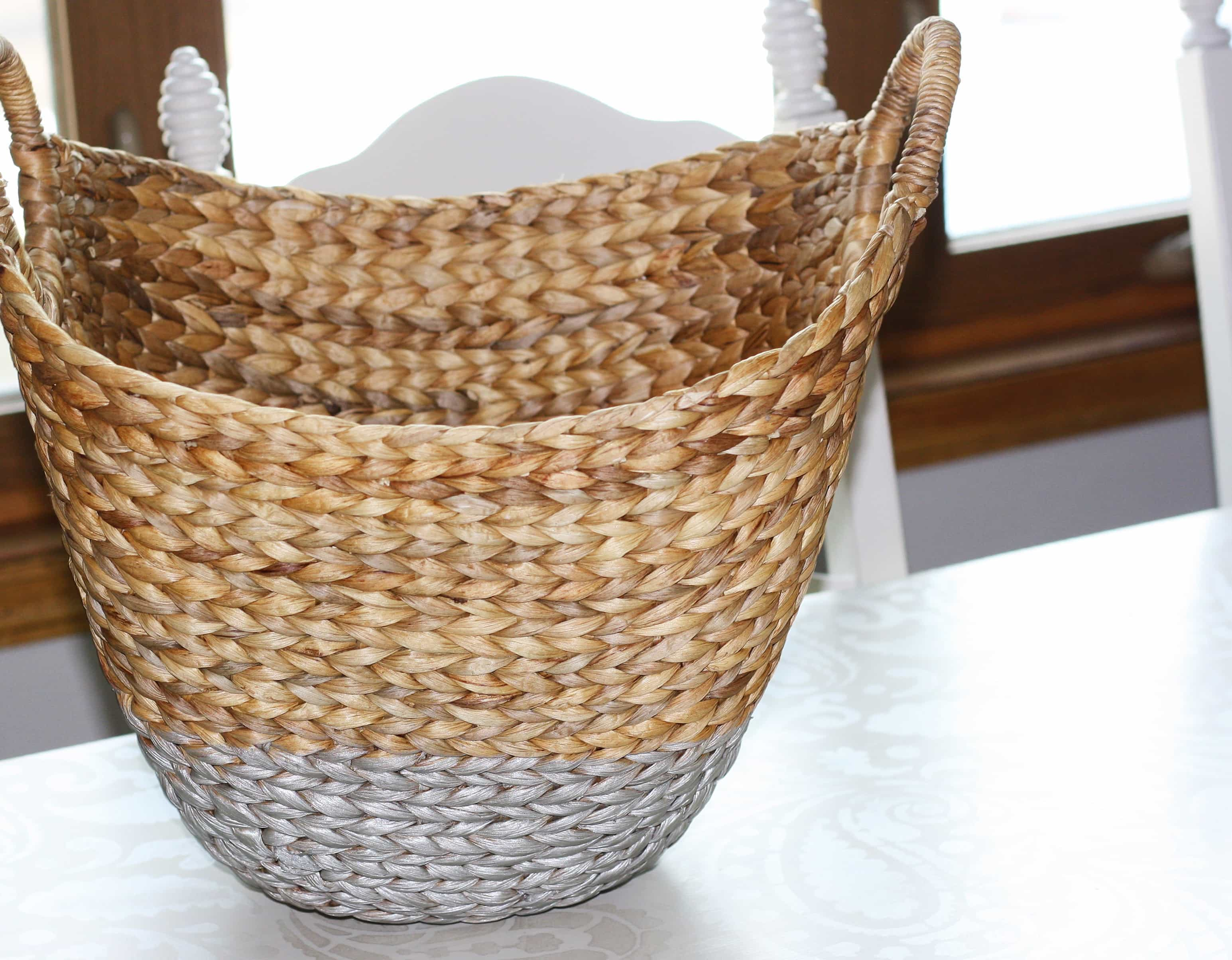 Painted Basket Project - www.refashionablylate.com