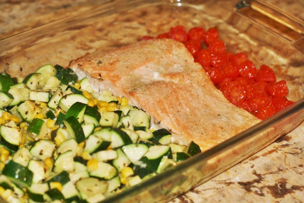 Healthy All in One Dish Salmon - www.refashionablylate.com