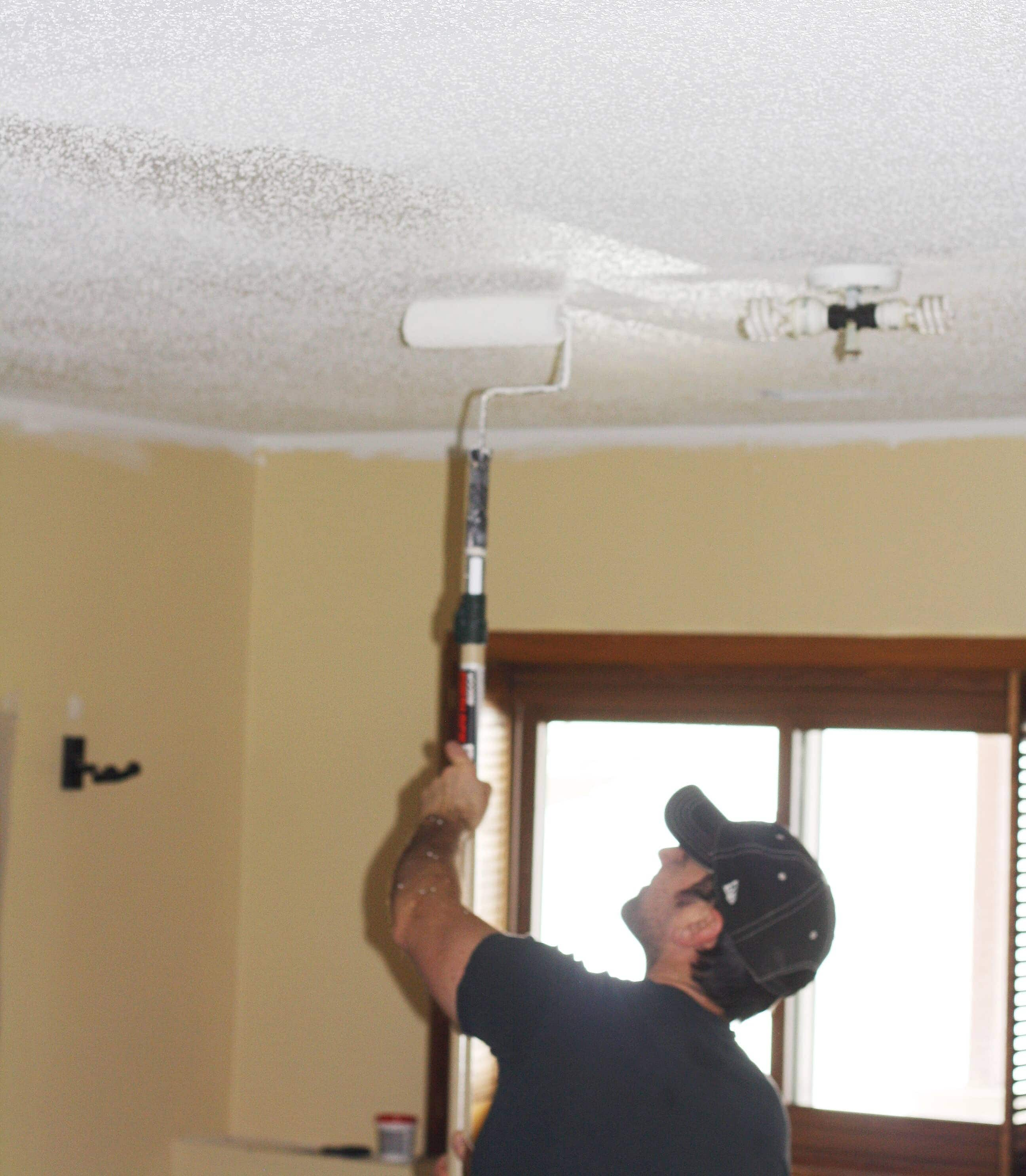 How To Paint Popcorn Ceiling Refashionablylate Com