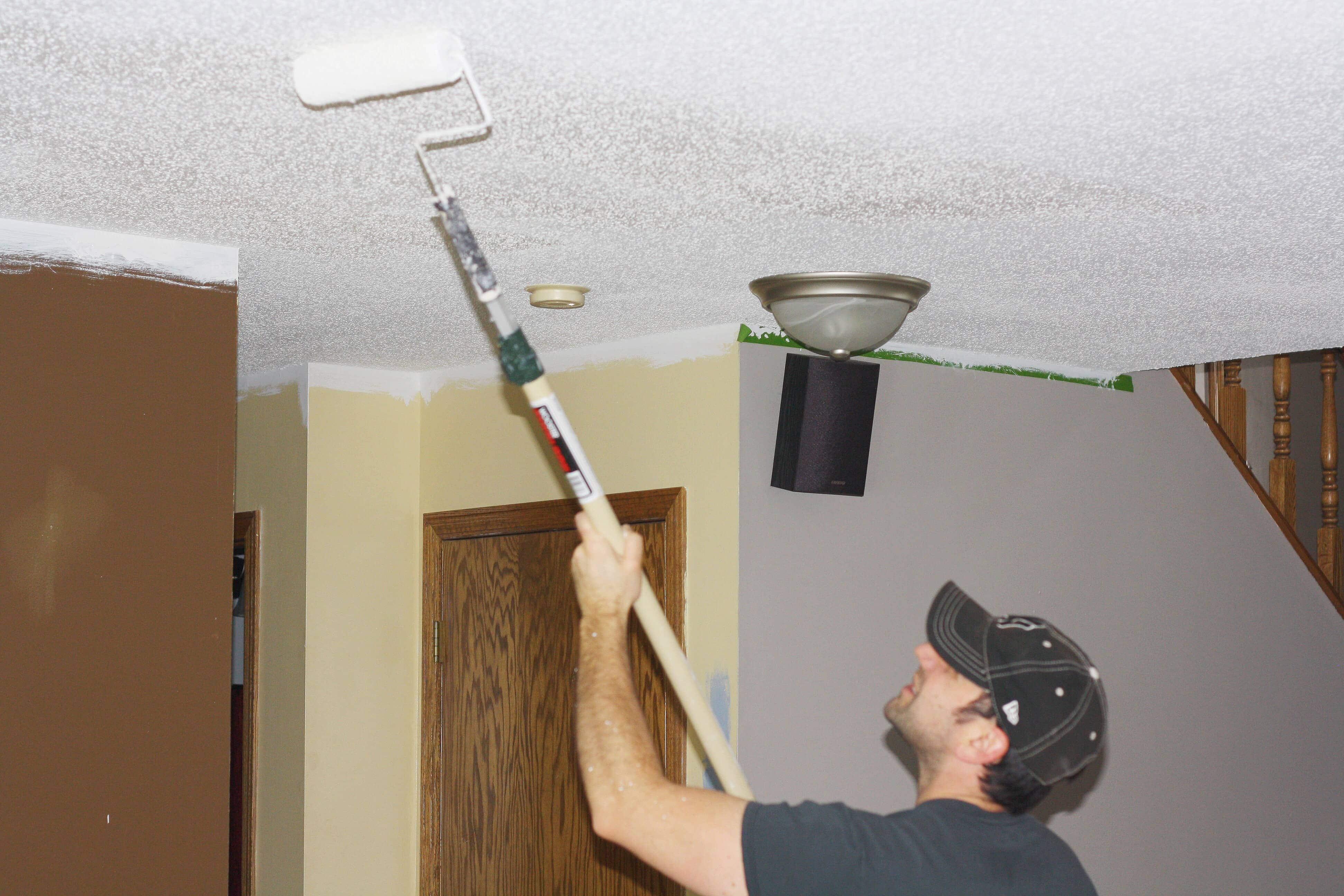 How To Paint Popcorn Ceiling Refashionablylate Com