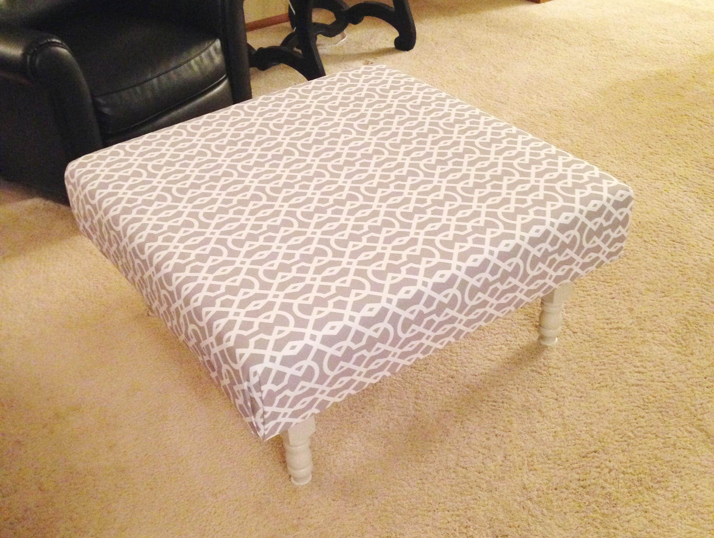 Extreme Makeover Ottoman Refashionably Late