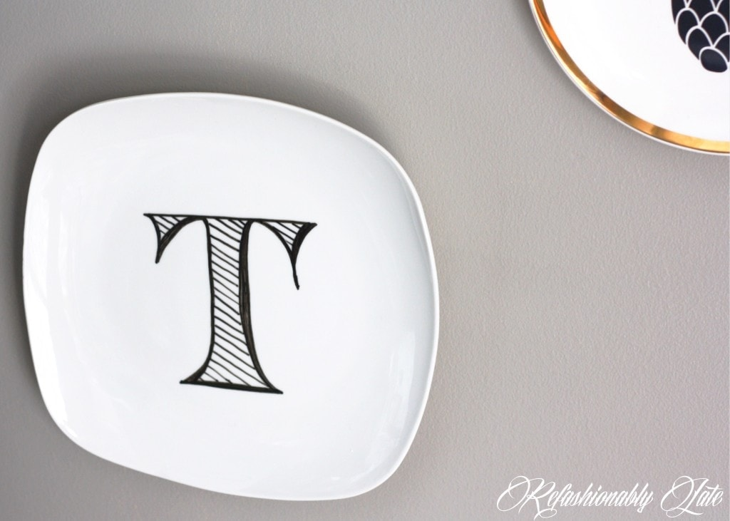 DIY Wall Plates - ww.refashionablylate.com