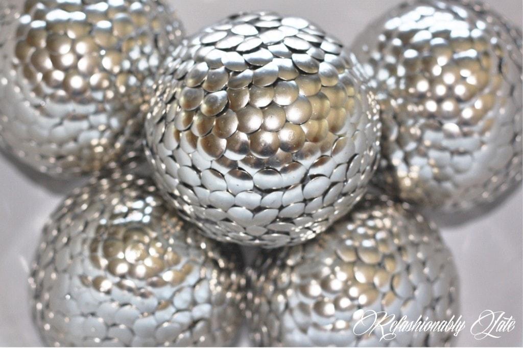 DIY Styrofoam Tack Balls - www.refashionablylate.com