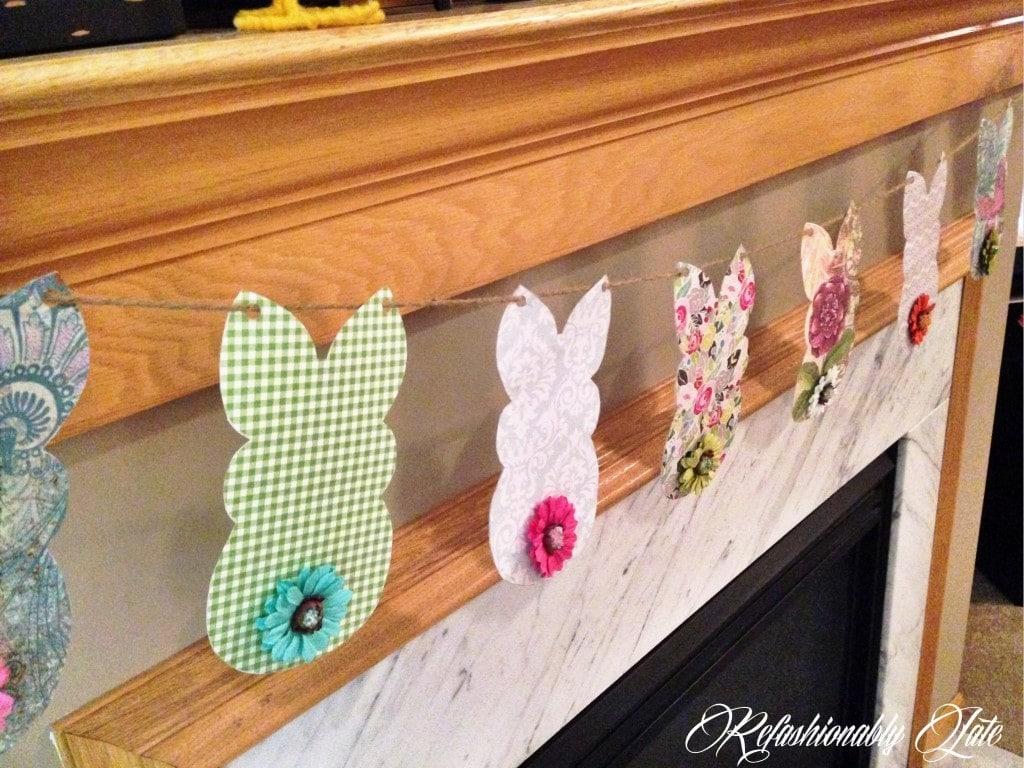Easter Bunny Banner - www.refashionablylate.com