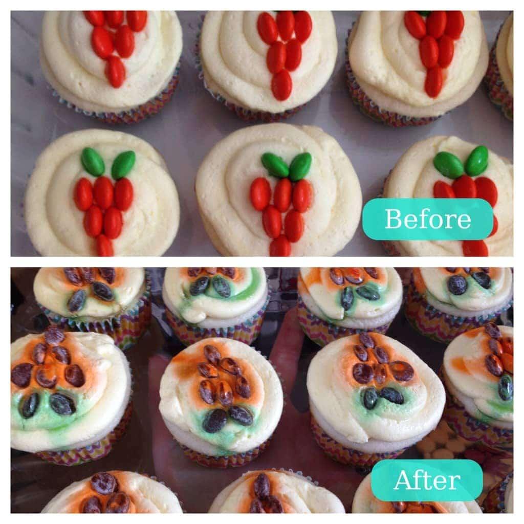 M&M Carrot Cupcakes - www.refashionablylate.com
