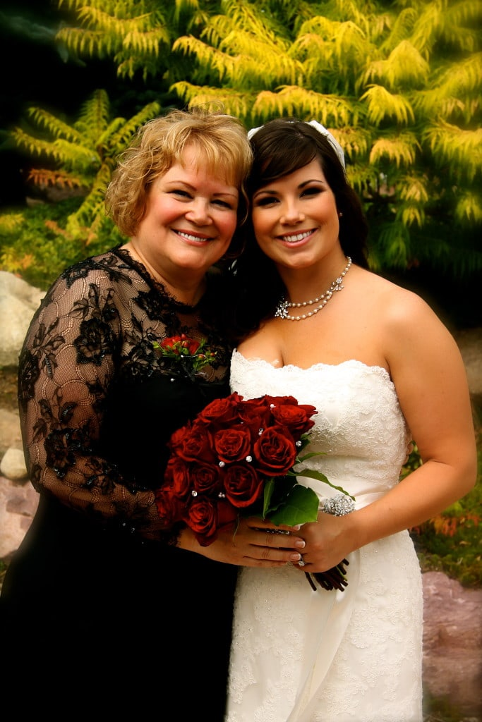 My beautiful mother & I on my wedding day!