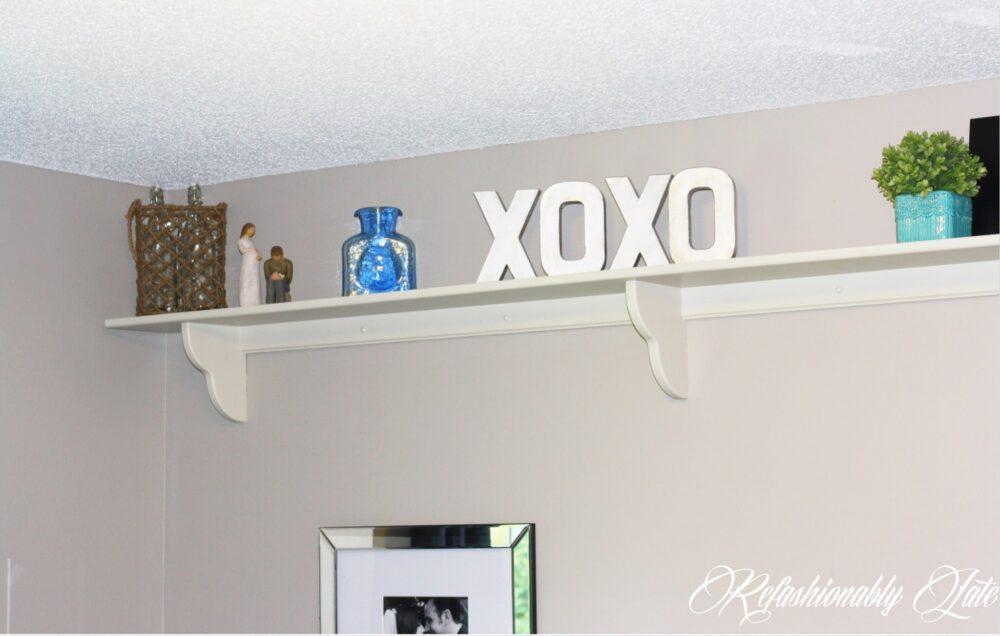 Bedroom Shelf Makeover & Decor - www.refashionablylate.com