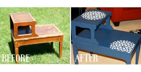 Antique Side Table Makeover 10