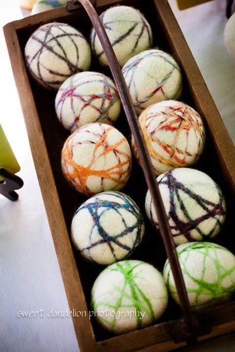 DIY Felted Wool Dryer Balls - www.refashionablylate.com