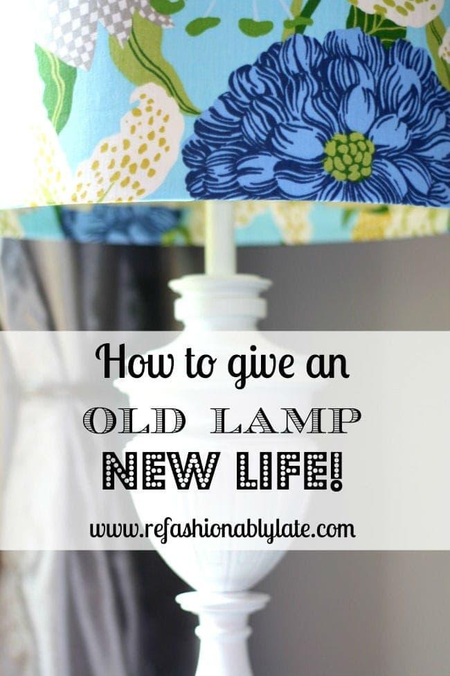 DIY Lamp Revamp - www.refashionablylate.com