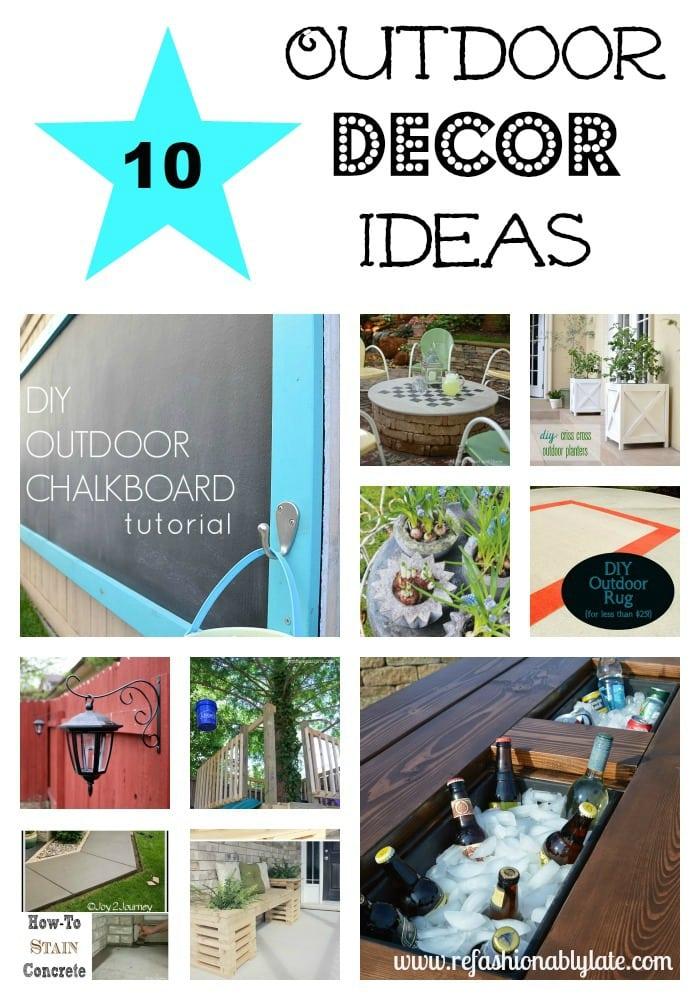 10 Outdoor Decor Ideas - www.refashionablylate.com
