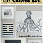 DIY Canvas Wall Art and Link Party