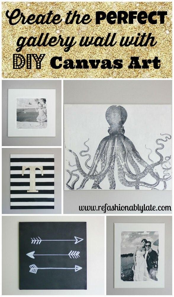 DIY Canvas Wall Art - www.refashionablylate.com