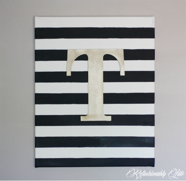 DIY Canvas Wall Art   Www.refashionablylate.com