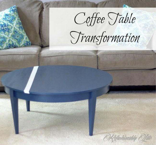 Coffee Table Transformation - www.refashionablylate.com