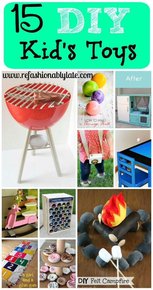 15 DIY Kid's Toys - www.refashionablylate.com