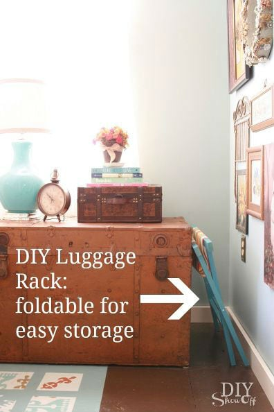 DIY Luggage Rack 2