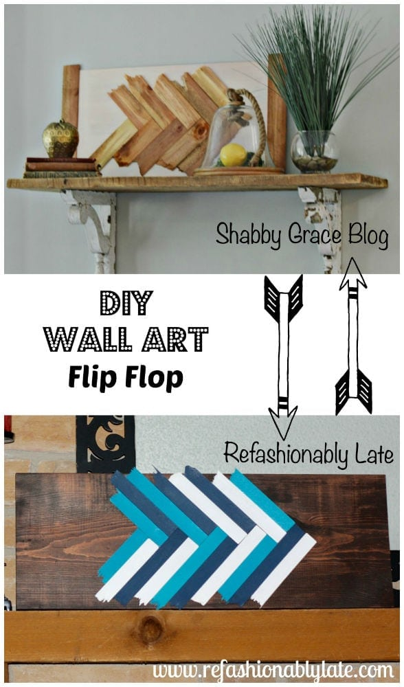 DIY Wall Art Flip Flop - .refashionablylate.com  sc 1 st  Refashionably Late & DIY Wall Art Flip Flop - REFASHIONABLY LATE
