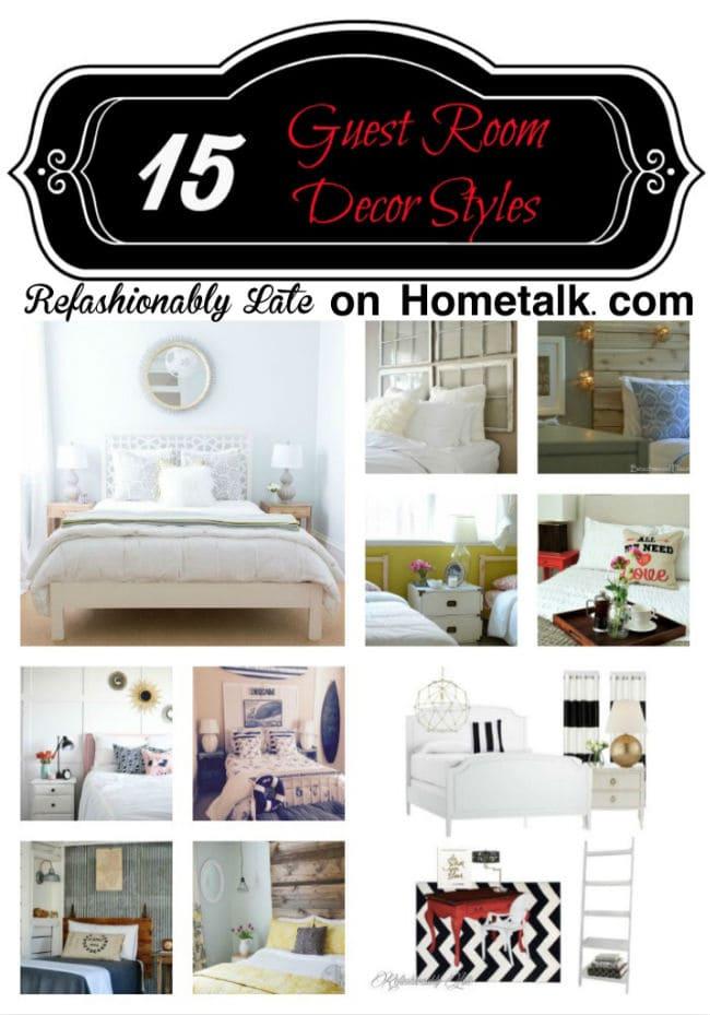 15 Guest Room Decor Styles - www.refashionablylate.com