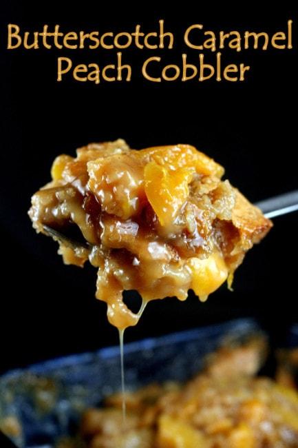 Butterscotch Caramel Peach Cobbler