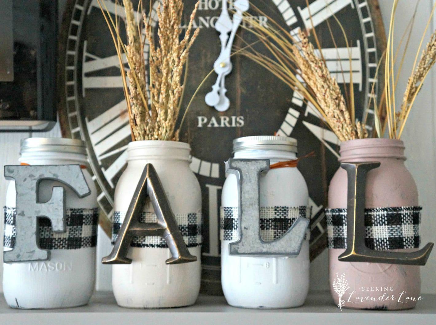 Fall Mason Jars - Seeking Lavender Lane