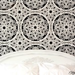 Stenciled Lace Feature Wall