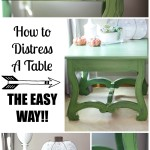 How to Distress Furniture The Easy Way