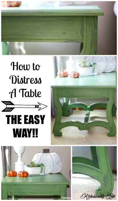 How to Distress Furniture The Easy Way - www.refashionablylate.com