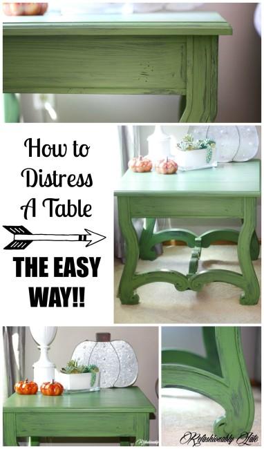 How to Distress Furniture The Easy Way - www.refashionablylate.com
