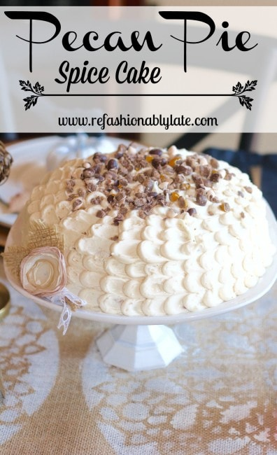 Pecan Pie Spice Cake Collage