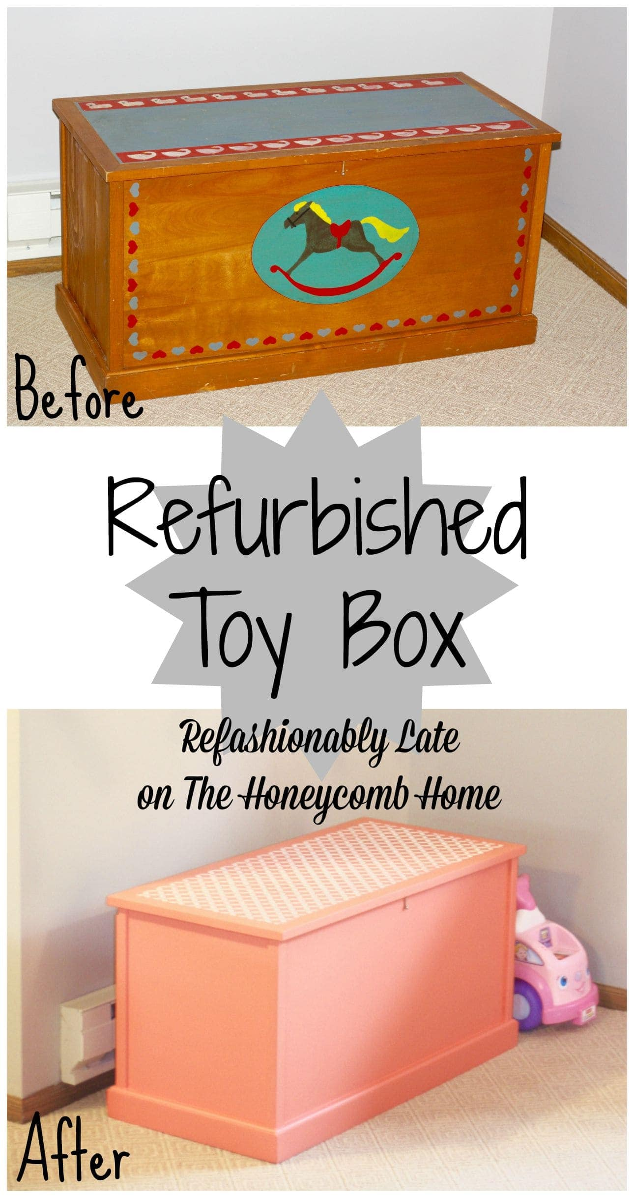 Refurbished Toy Box - www.refashionablylate.com