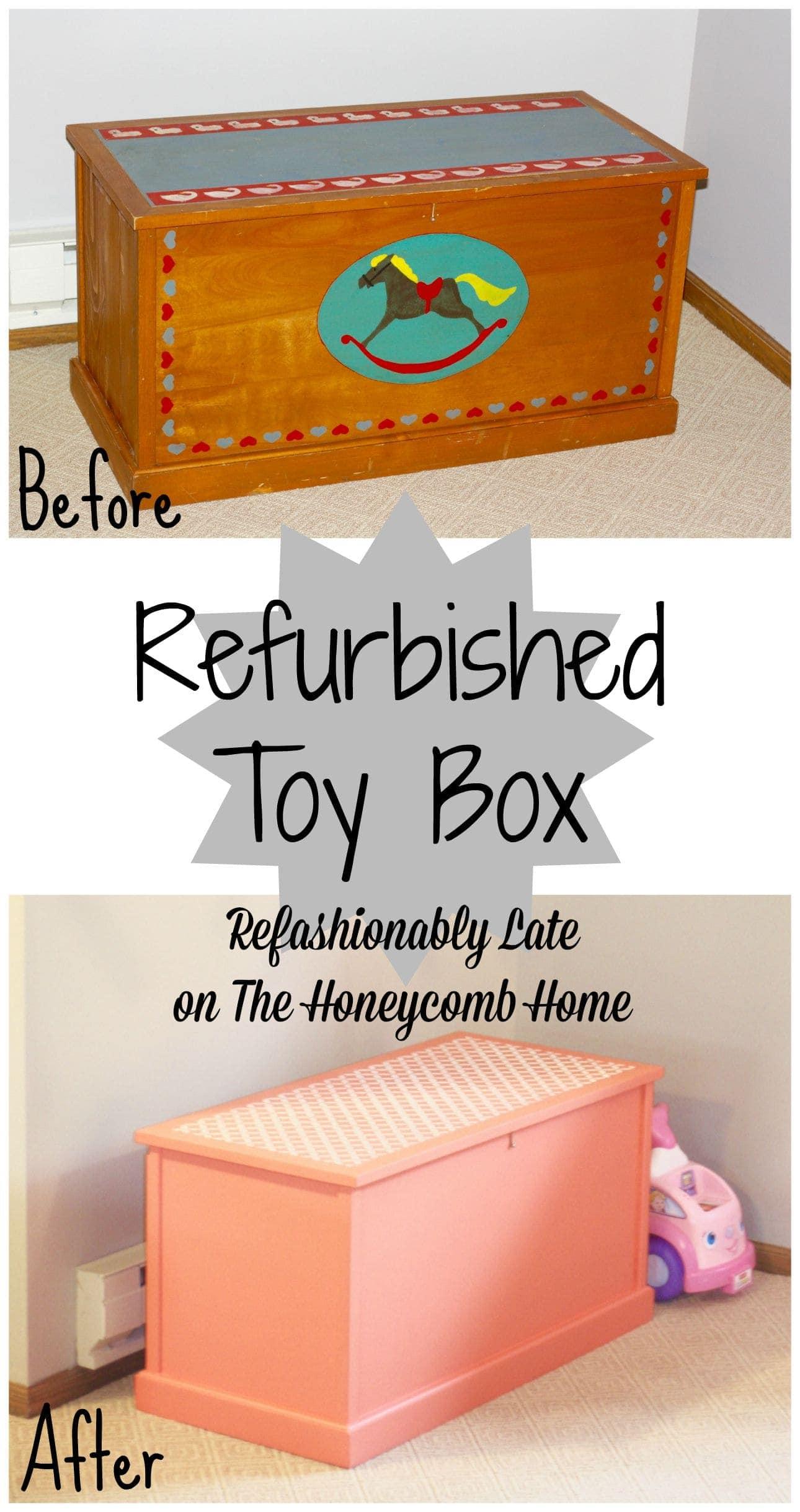 Refurbished Toy Box - www.refashionablylate.com