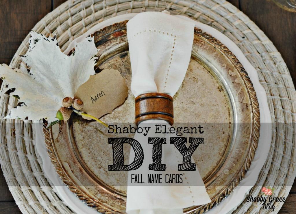 Shabby Elegant DIY Fall Name Cards