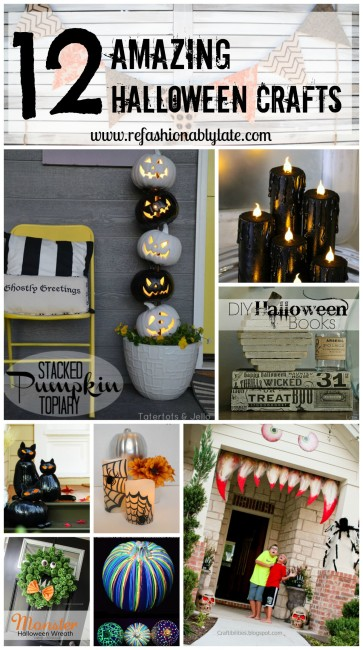 12 Amazing Halloween Crafts - www.refashionablylate.com
