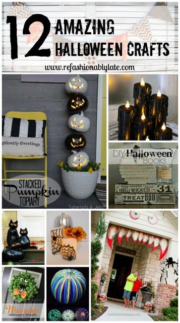 12 Amazing Halloween Crafts - www.refashionablylate.com