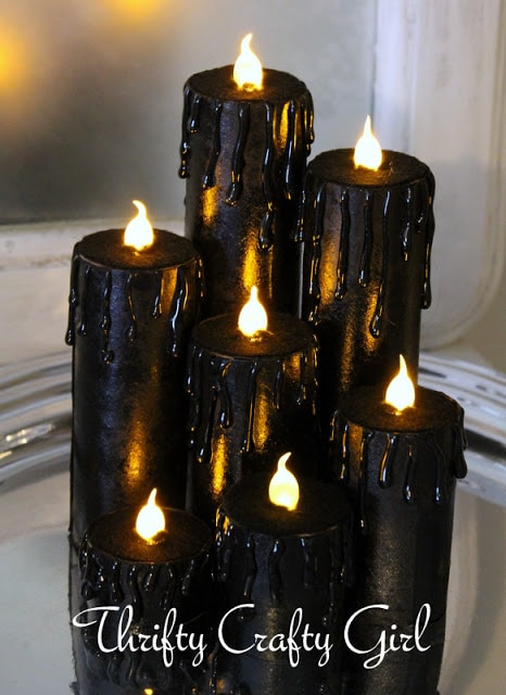 Halloween Faux Candles