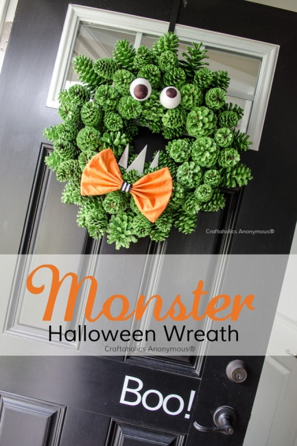 Monster Halloween Wreath