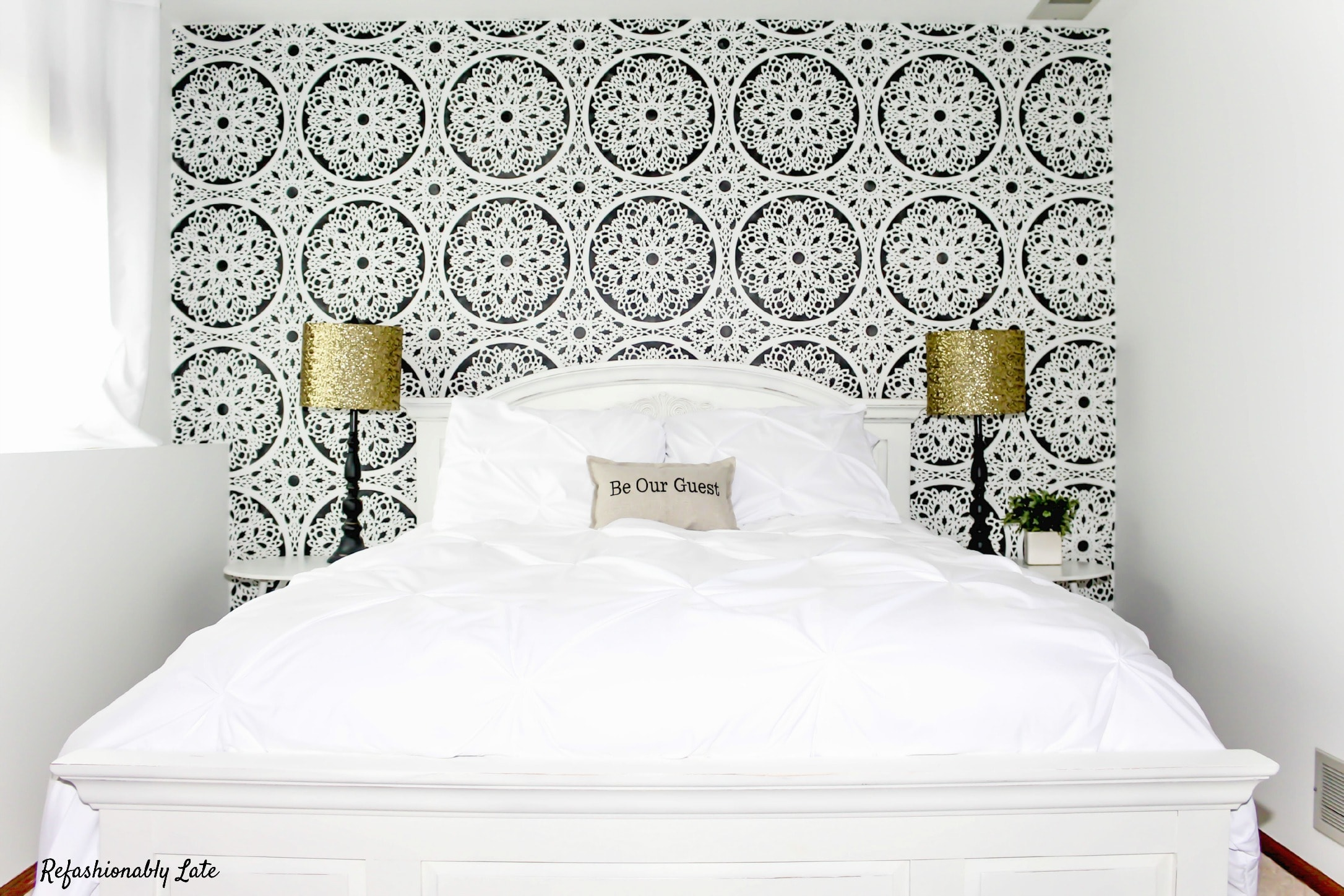 Guest Room Reveal - www.refashionablylate.com