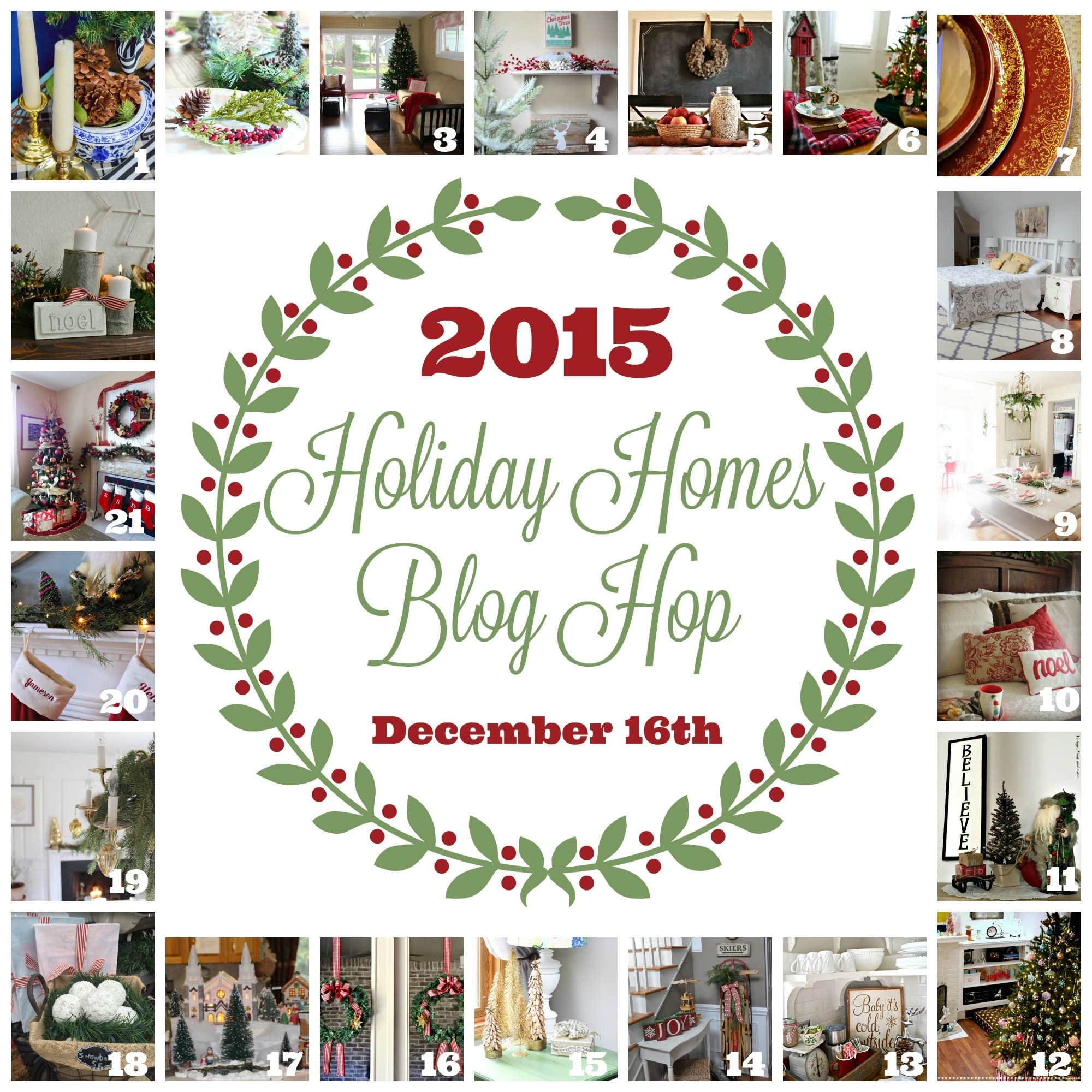 Holiday Home Hop - www.refashionablylate.com