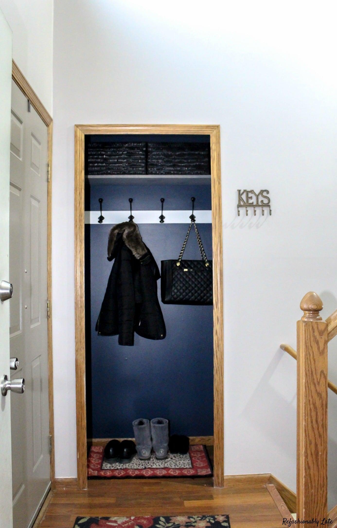 Closet Turned Mudroom Pt. 1 - www.refashionablylate.com