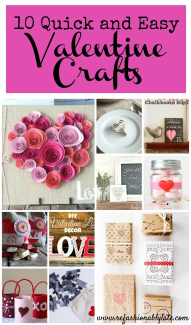 Valentine Crafts Collage