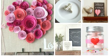 collage of various Valentine's Day crafts and text reading 10 quick and easy Valentine's Day crafts