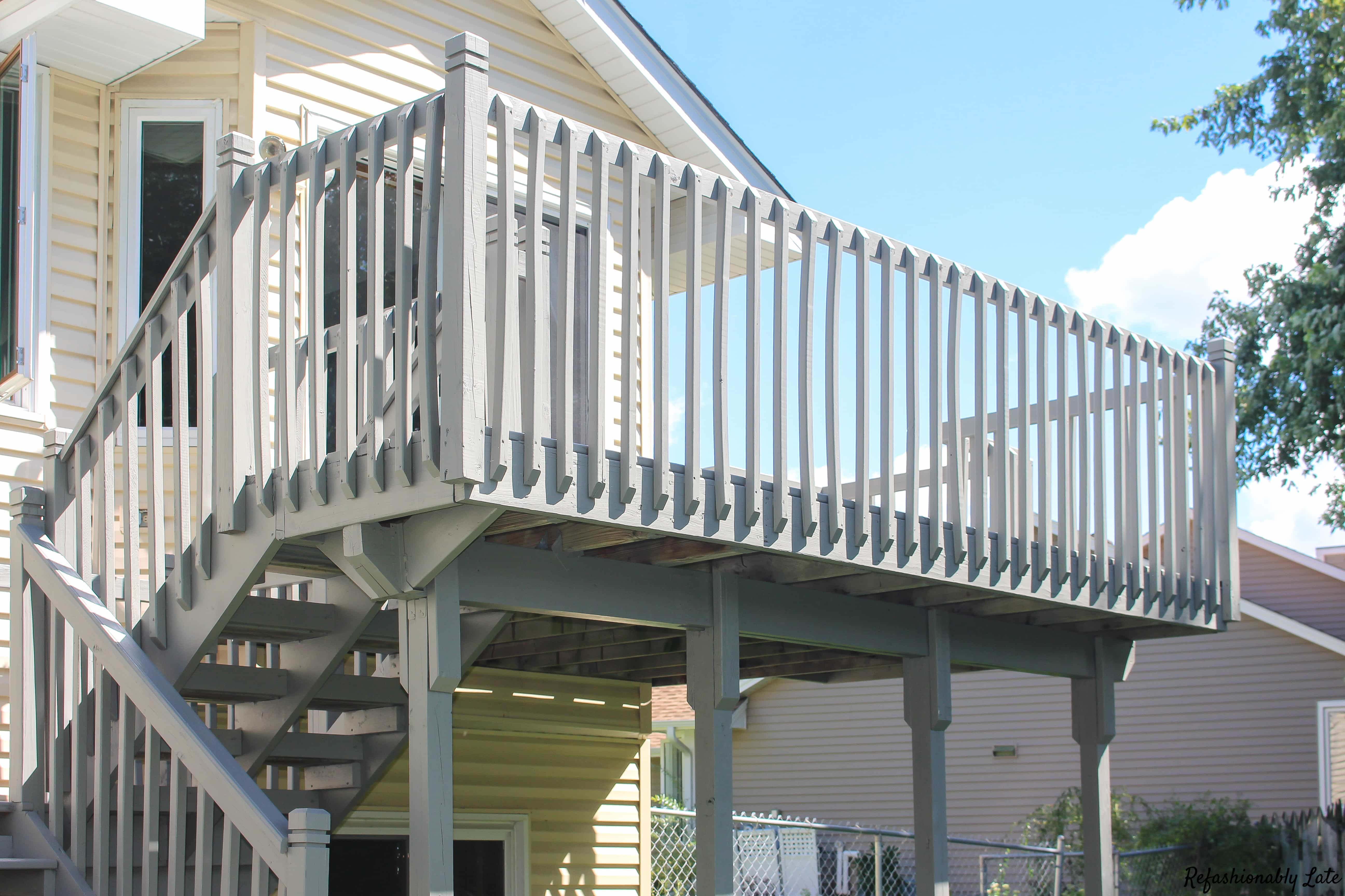 A Fresh Coat of Paint: How to Paint Your Deck - www.refashionablylate.com