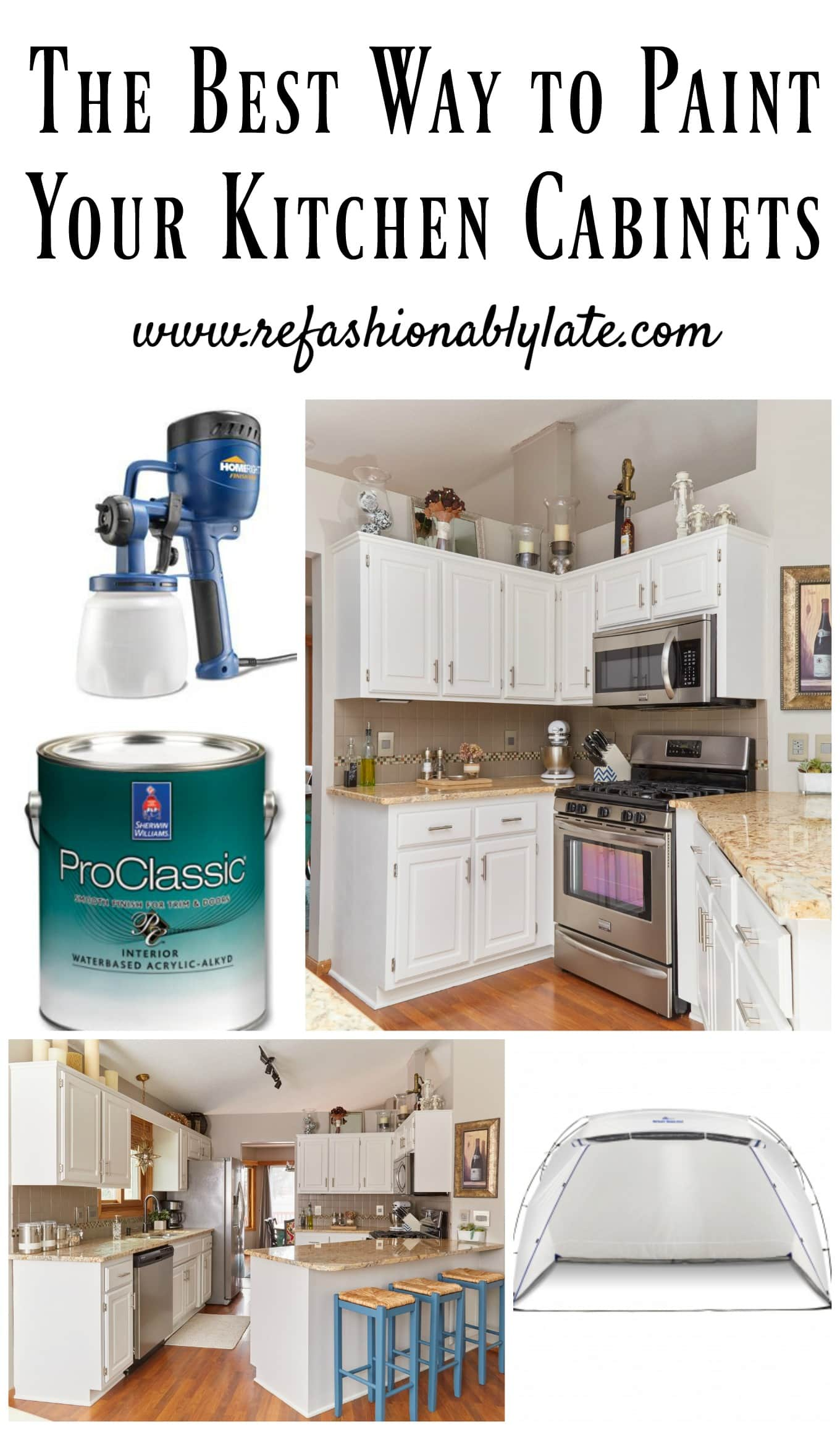 The Best Way To Paint Your Kitchen Cabinets Refashionably Late