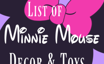 purple background with large black and pink minnie mouse and text the best list of minnie mouse decor and toys
