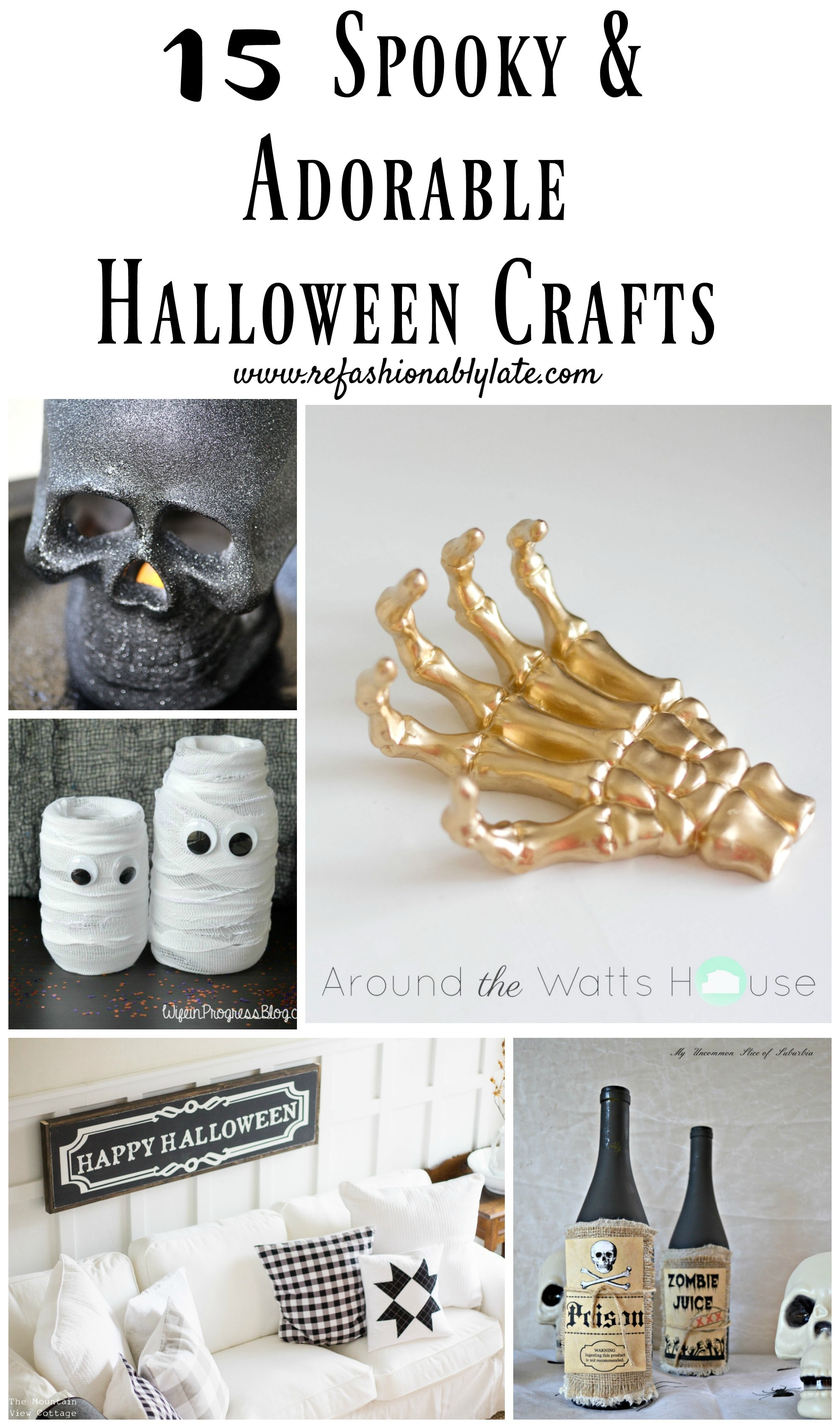15 Spooky Adorable Halloween Crafts Refashionably Late